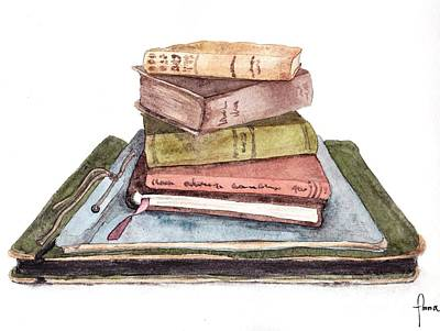 Painting - Books by Annemeet Hasidi- van der Leij