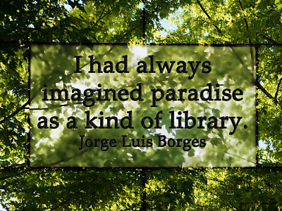 Books Are A Paradise Art Print