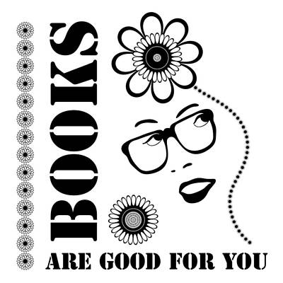 Florals Drawings - Books Are Good For You by Frank Tschakert