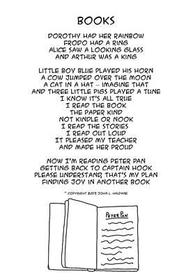 Drawing - Books by John Haldane