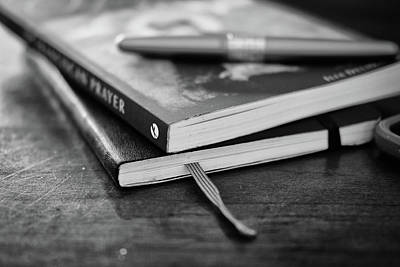 Photograph - Books, Journal And Pen by Monte Stevens