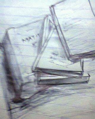 Drawing - Books by Madhusudan Bishnoi