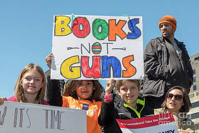 Photograph - Books Not Guns by Jim West