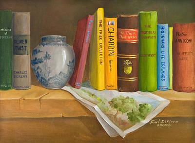 Bookshelf Painting - Bookshelf by Joni Dipirro