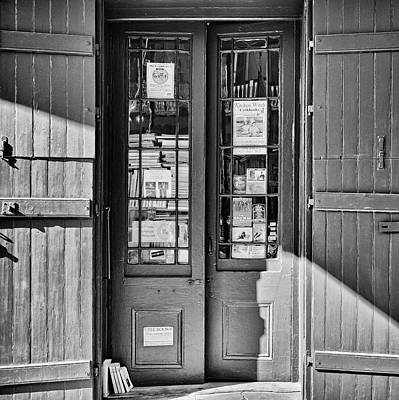 Photograph - Bookstore - French Quarter - New Orleans - B/w by Greg Jackson