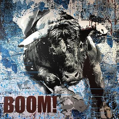 Exchange Mixed Media - Boom - Bull Market by Diana Catherine Eger