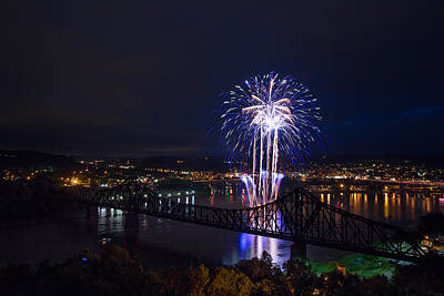 Photograph - Fireworks In Beaver County  by Emmanuel Panagiotakis