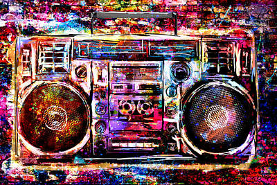 Boombox Painting - Boombox Art by Pat Spark