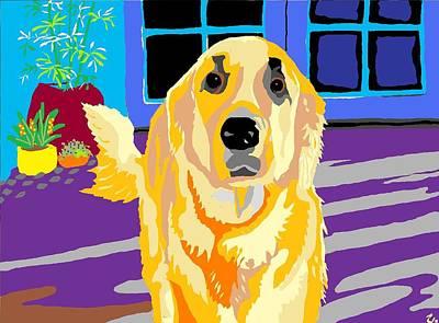 Golden Retriever Digital Art - Boomer by Su Humphrey