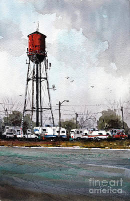 Painting - Boomtown Man Camp by Tim Oliver