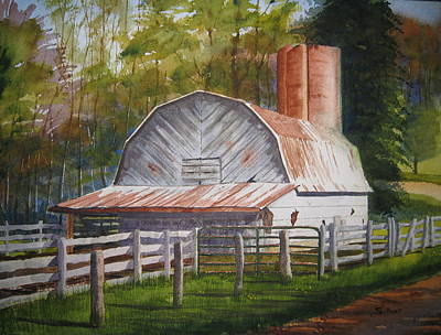 Boone Barn Art Print by Shirley Braithwaite Hunt
