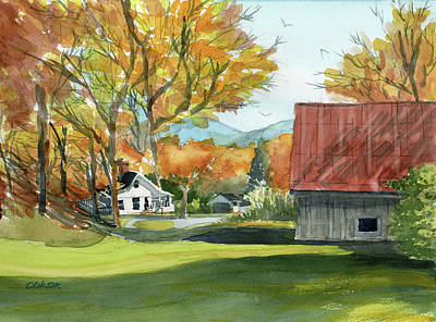 Painting - Boone Bungalow And Barn by Dick Dee