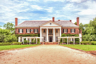 Digital Art - Boone Hall Mansion by Trey Foerster