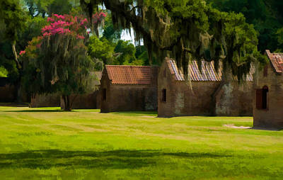 Photograph - Boone Hall Plantation Slave Quarters by Ginger Wakem
