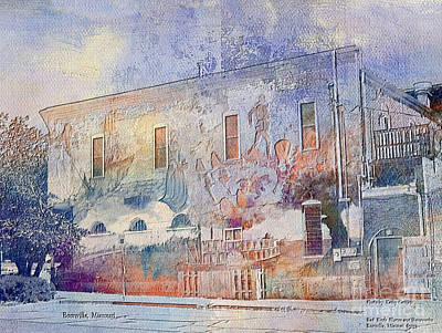 Digital Art - Boonville Mural by Kathy Cornett