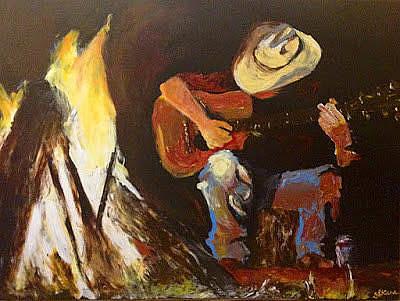 Painting - Booper's Man by Sarah LaRose Kane