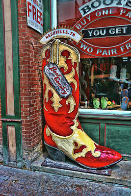 Photograph - Boot Country - Nashville by Allen Beatty