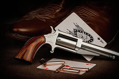Poker Photograph - Boot Gun Still Life by Tom Mc Nemar