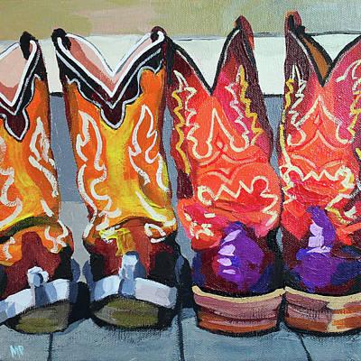 Painting - Boot Heels by Melinda Patrick