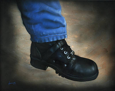 Levi S Painting - Boot by Luis  Navarro