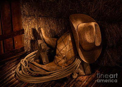 Photograph - Boot N Hay by DS Dodd