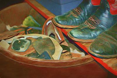 Boot Repair Art Print