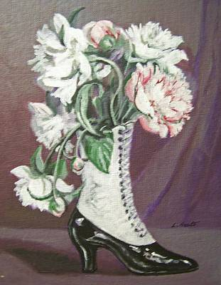 Painting - Booted Peonies by Laura Aceto