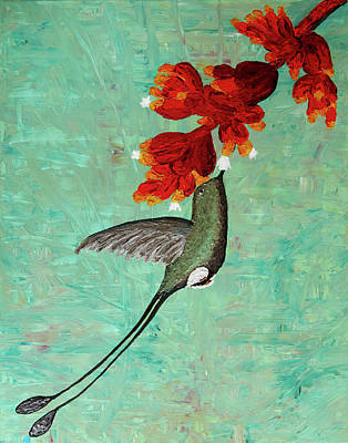 Painting - Booted Rackettail by Patricia Beebe