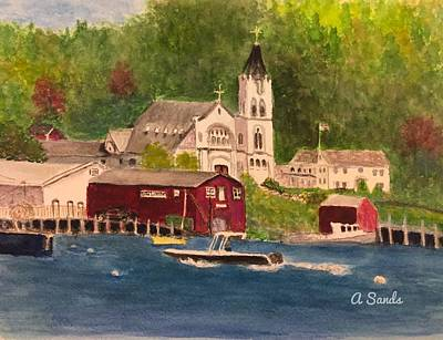 Painting - Booth Bay Harbor by Anne Sands