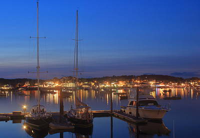 Photograph - Boothbay Harbor At Twilight by John Burk