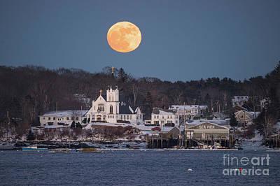 Photograph - Boothbay Harbor Full Moon by Benjamin Williamson