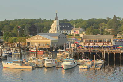 Photograph - Boothbay Harbor Maine by John Burk