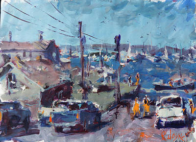 Painting - Boothbay Harbor Maine Landscape by Robert Joyner