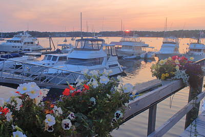 Photograph - Boothbay Harbor Sunset by John Burk