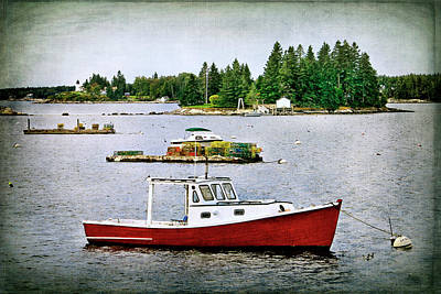 Photograph - Boothbay Harbor View by Carolyn Derstine
