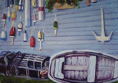 Painting - Boothbay Markers by Bonita Waitl