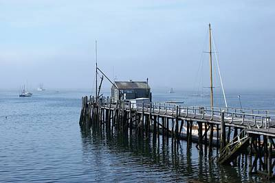 Photograph - Boothbay Shipyard Dock by Lois Lepisto