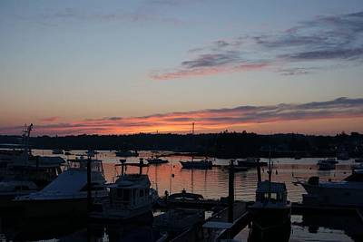Art Print featuring the photograph Boothbay Sunset by Lois Lepisto
