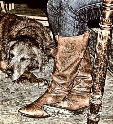 Photograph - Boots And Buddy Antique by Judy Vincent