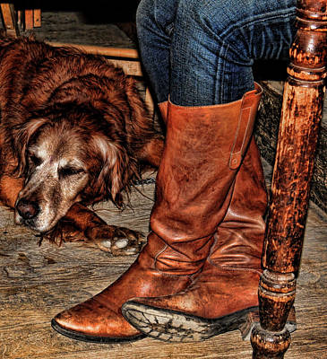 Photograph - Boots And Buddy by Judy Vincent
