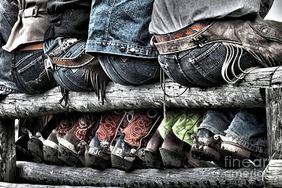 Chaps Photograph - Boots And Butts by Heather Swan