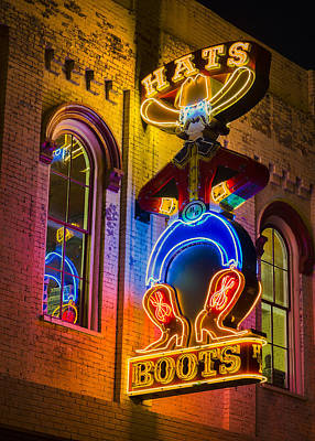 Nashville Sign Photograph - Boots And Hats by Stephen Stookey