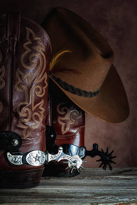 Cowboy Hat Photograph - Boots And Spurs by Tom Mc Nemar