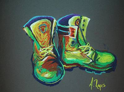 Painting - Boots by Angel Reyes