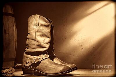 Boots At The Hacienda  Art Print