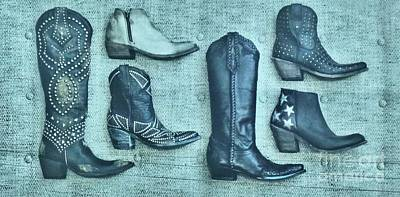 Photograph - Boots By Allen Sign In Austin Texas  by Janette Boyd