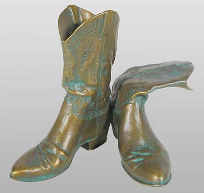 Sculpture - Boots by Hugh Blanding
