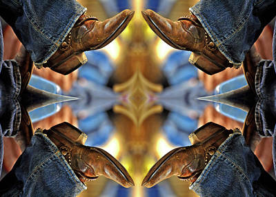 Ostrich Photograph - Boots Kaleidoscope by Joan Carroll