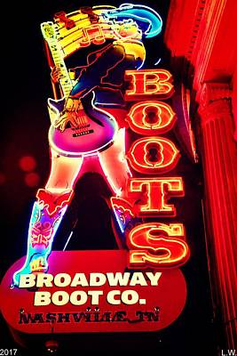 Nashville Sign Photograph - Boots by Lisa Wooten