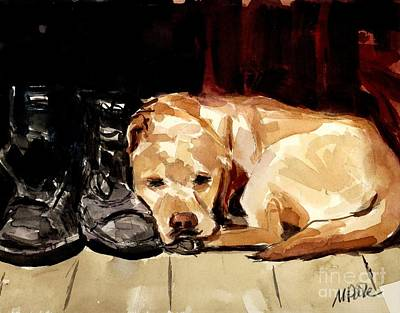Painting - Boots by Molly Poole